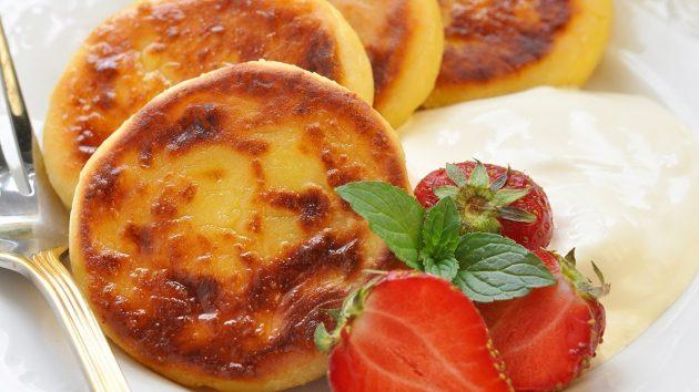Сырники с абрикосом